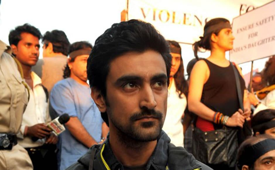 Actor Kunal Kapoor participates in the protests. AFP