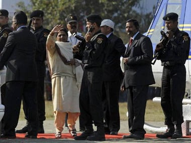 Should leaders like Mayawati be entitled to such high security? AFP