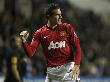 File picture of Manchester United's Robin van Persie. Reuters