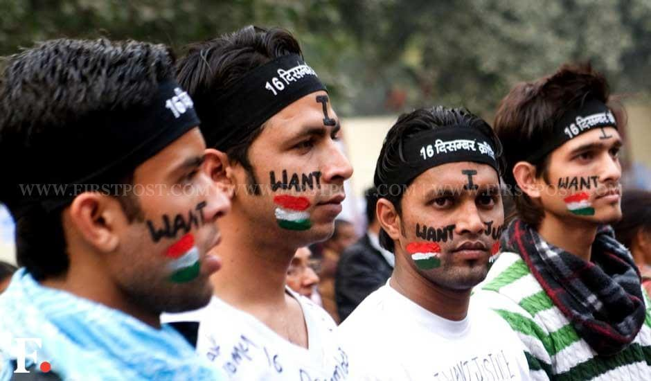 Protesters demand justice a month after the Delhi gangrape incident. Naresh Sharma/Firstpost