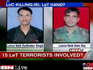 Pakistan's ISI an terror groups could be involved in the recent beheading of the Indian soldiers. IBNLive.