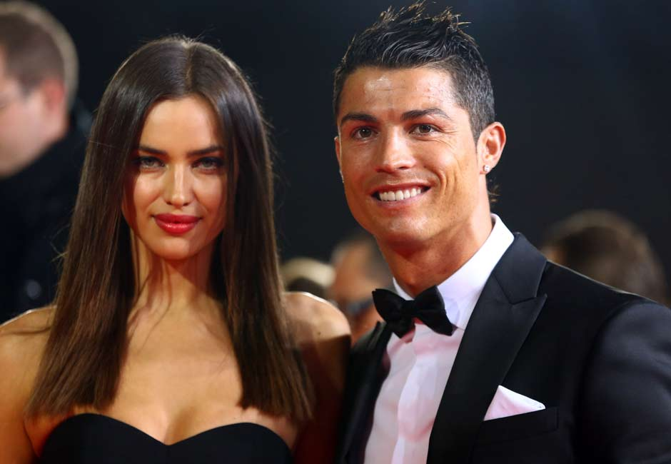 And in walks his closest competition. No, no, not Irina Shayk, we're talking about Cristiano Ronaldo. Getty Images