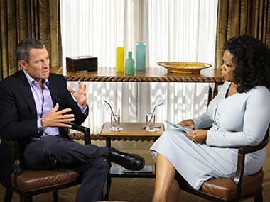 The Oprah interview with Armstrong is being aired now. Getty Images