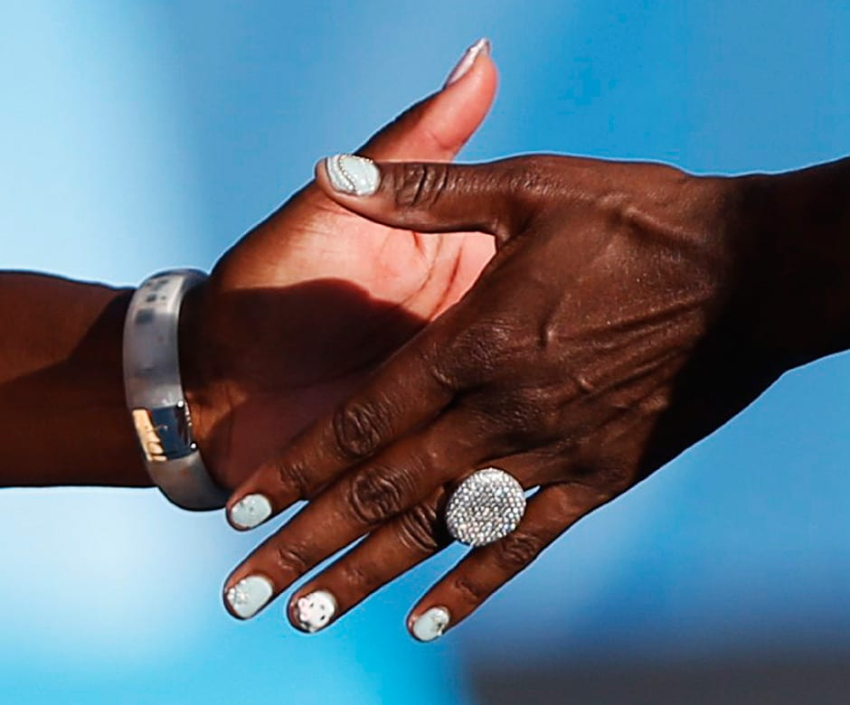 The Williams sisters are unbeatable on the doubles court and they know how to make a style statement too. Reuters