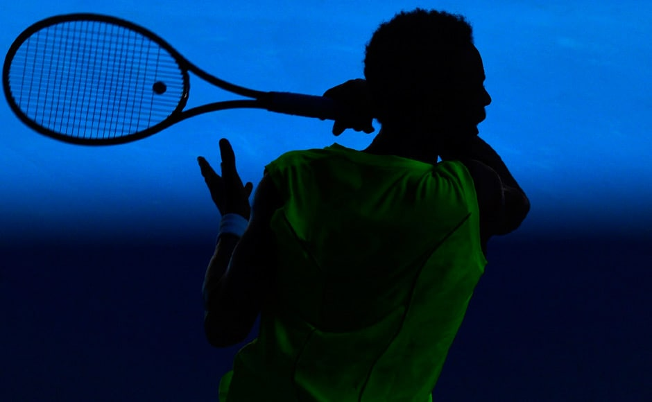 Monfils lends his physique to a wonderful silhouette. Reuters