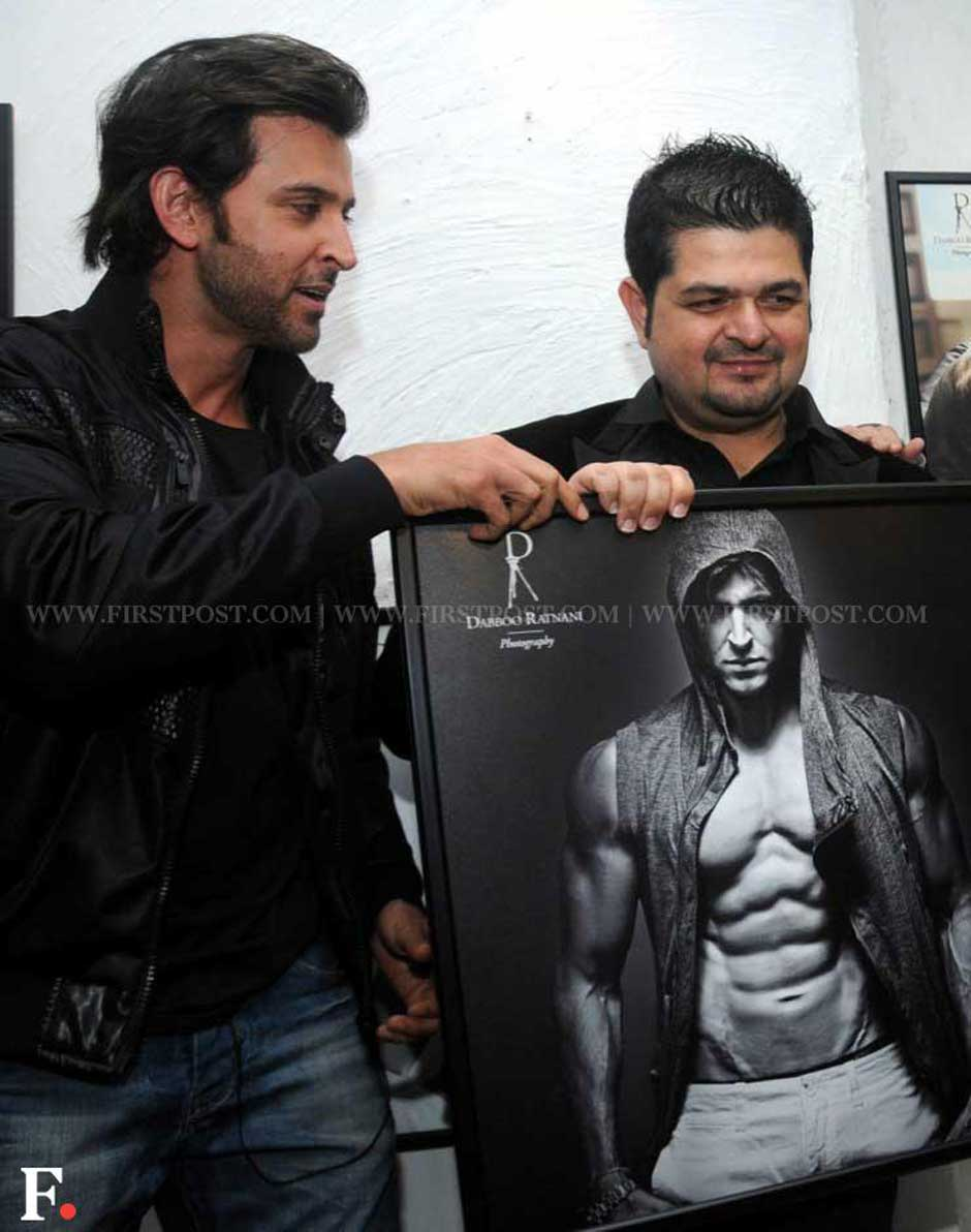 Hrithik Roshan with Dabboo Ratnani at the annual calendar launch of the photographer. Sachin Gokhale/Firstpost
