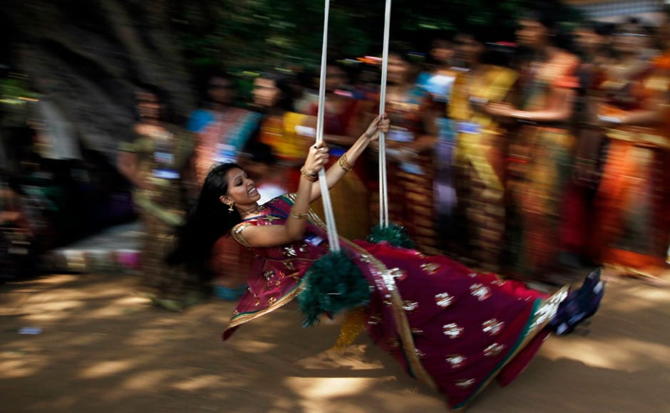 Students of a city college celebrate Pongal. Firstpost