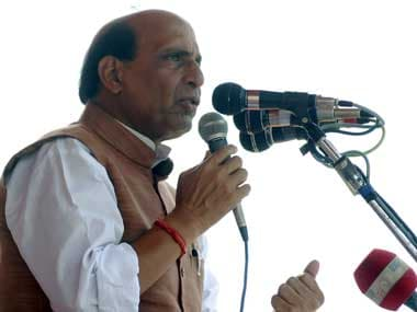 Rajnath Singh will lead the protests against the Home Minister's statements. Reuters