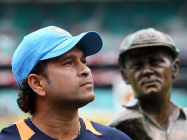 As Sachin turns 40, he is faced with a Bradman-like conundrum. Getty Images