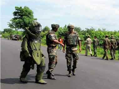 Army operation in Assam. AP