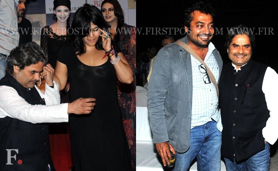 Vishal Bhardwaj, Ekta Kapoor and Anurag Kashyap at an event oganised by Balaji for their upcoming film Ek Thi Daayan. Sachin Gokhale/Firstpost