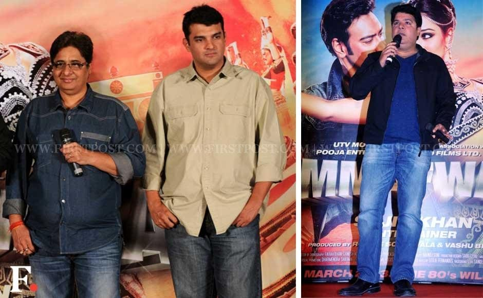 Vashu Bhagnani, Siddharth Roy Kapoor and filmmaker Sajid Khan. Sachin Gokhale/Firstpost