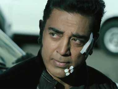 Kamal Haasan plays three roles in the film. Image courtesy ibnlive.