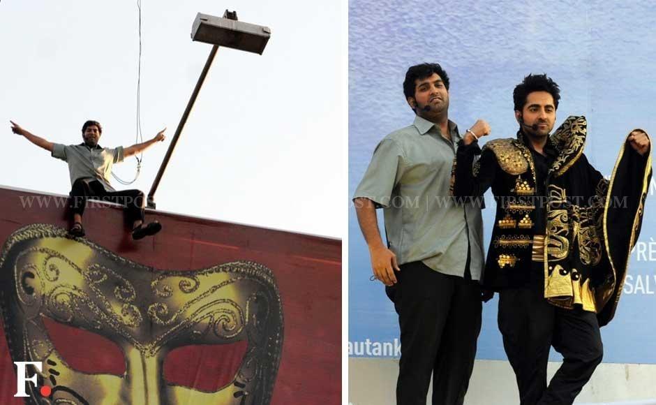 Images: A whole lot of dramebaazi at poster launch of Nautanki Saala