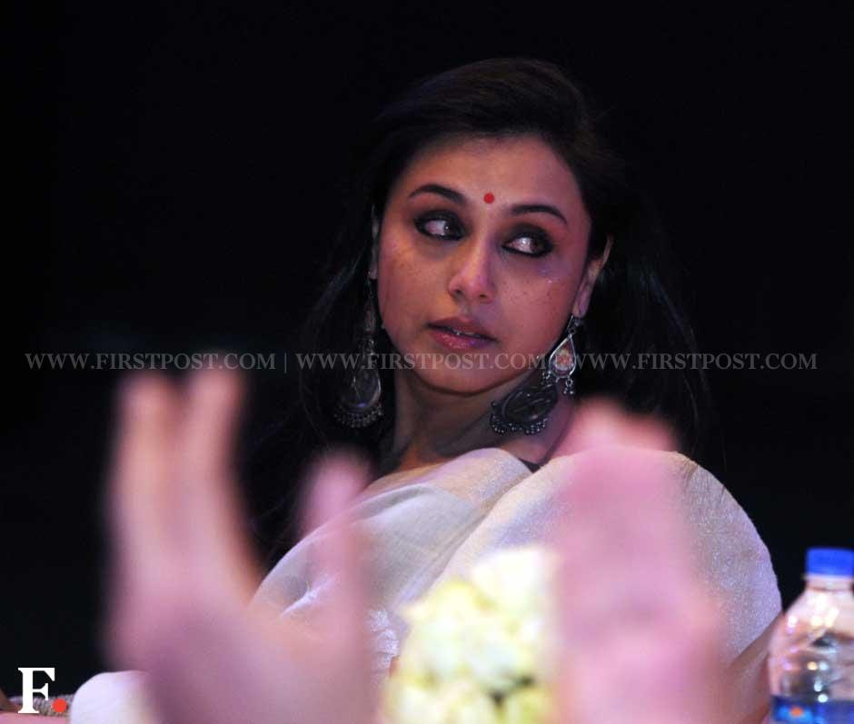 Rani Mukerji gets emotional during the unveiling of the statue. Sachin Gokhale/Firstpost