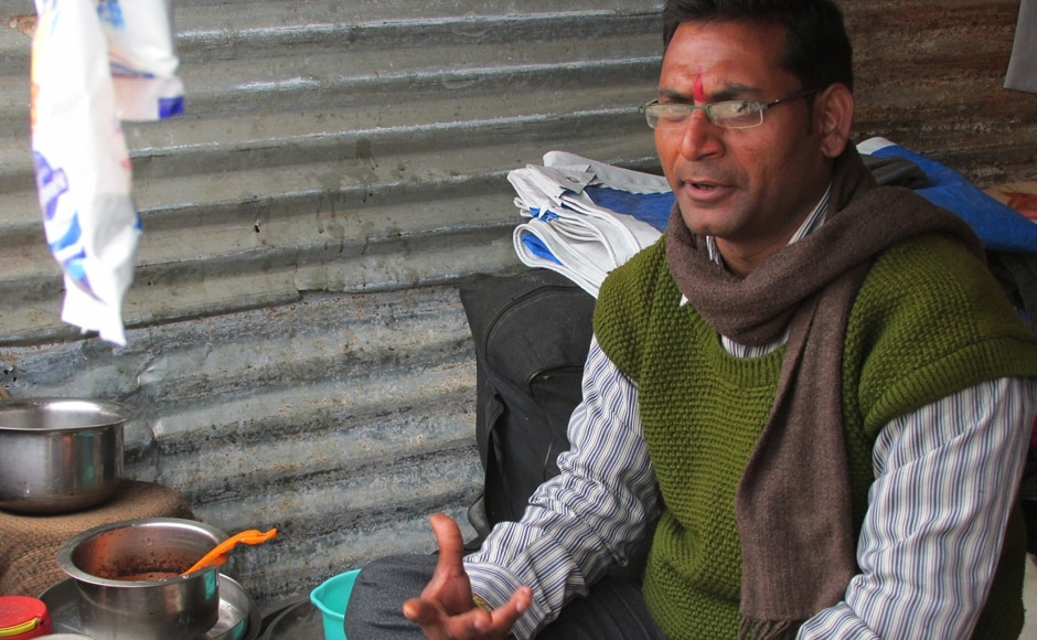 Allahabad resident Aditya Avasthi is a civil services aspirant. He is a history tutor to students of senior secondary level. At the Maha Kumbh, he has set up a tea stall which he manages during the day before his tuition classes in the evening. Danish Raza/ Firstpost