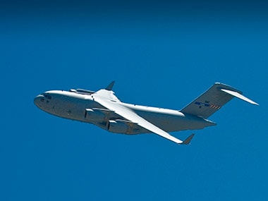 Boeing's C-17 Globemaster will be on display at the five-day Aero India air show in Bangalore.  Image courtesy: Boeing