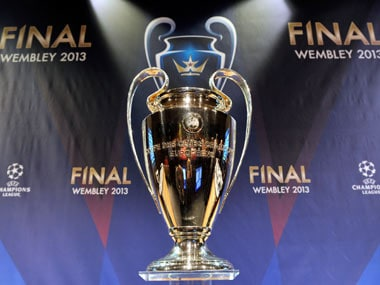 The Champions League trophy shines during the draw ceremony this year. Getty Images