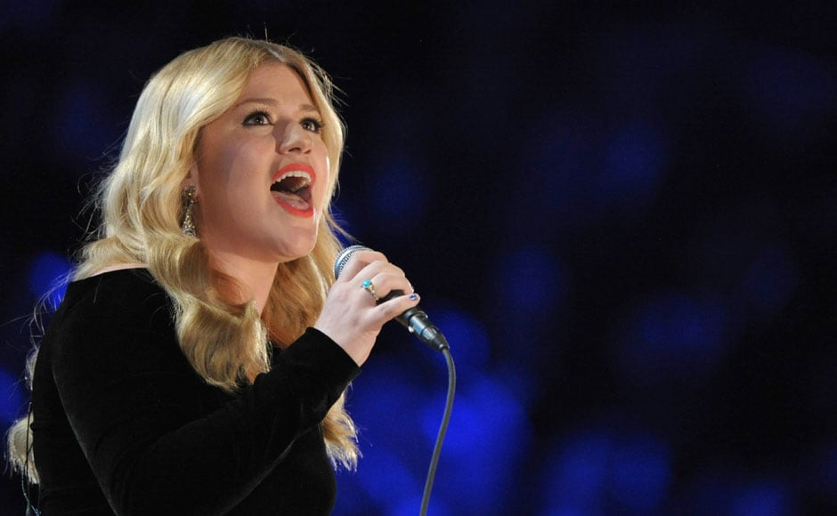 Kelly Clarkson performs at the award ceremony. AP
