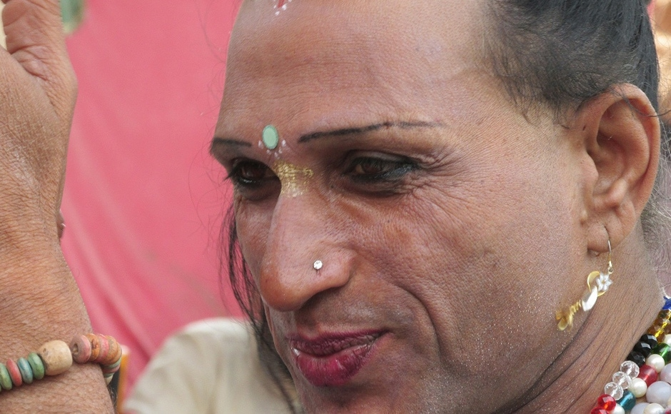 A transgender performing Raslila (stories of Lord Krishna) in one of the camps at the fair. Danish Raza/ Firstpost