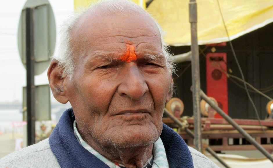 Raja Ram Tiwari has been running the lost and found camp at the Kumbh fair since 1946. He claims to have united more than 10 lakh people. Danish Raza/ Firstpost