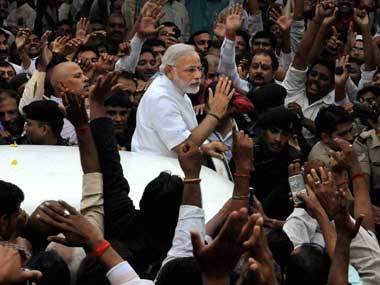 The VHP has declared openly that it supports Narendra Modi as the prime ministerial candidate. PTI