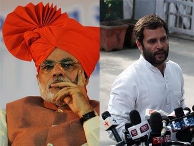 Narendra Modi and Rahul Gandhi. AFP.
