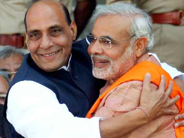 Just good friends? Rajnath Singh says its too early to declare Modi a PM candidate. Reuters
