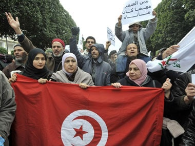 Thousands rally in support of Tunisia's ruling party