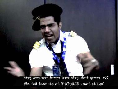 Pilot Anjum Chabra in the Air India rap video. Ibnlive