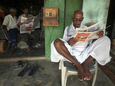 Back to reading newspapers. Reuters