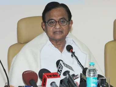 Finance Minister P Chidambaram. Image courtesy PIB
