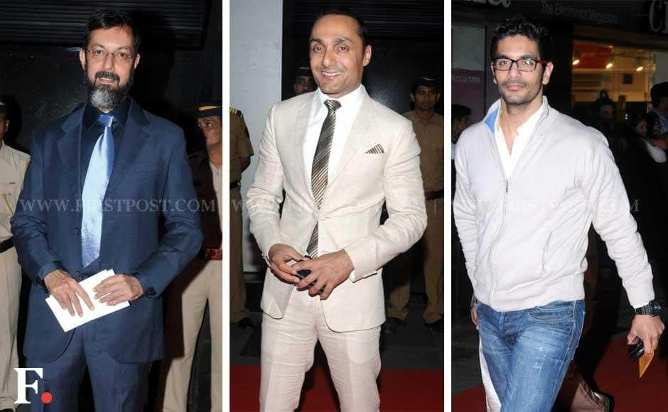 Rajat Kapoor, Rahul Bose and Angad-Bedi at the premiere of Midnight's Children. Sachin Gokhale/Firstpost