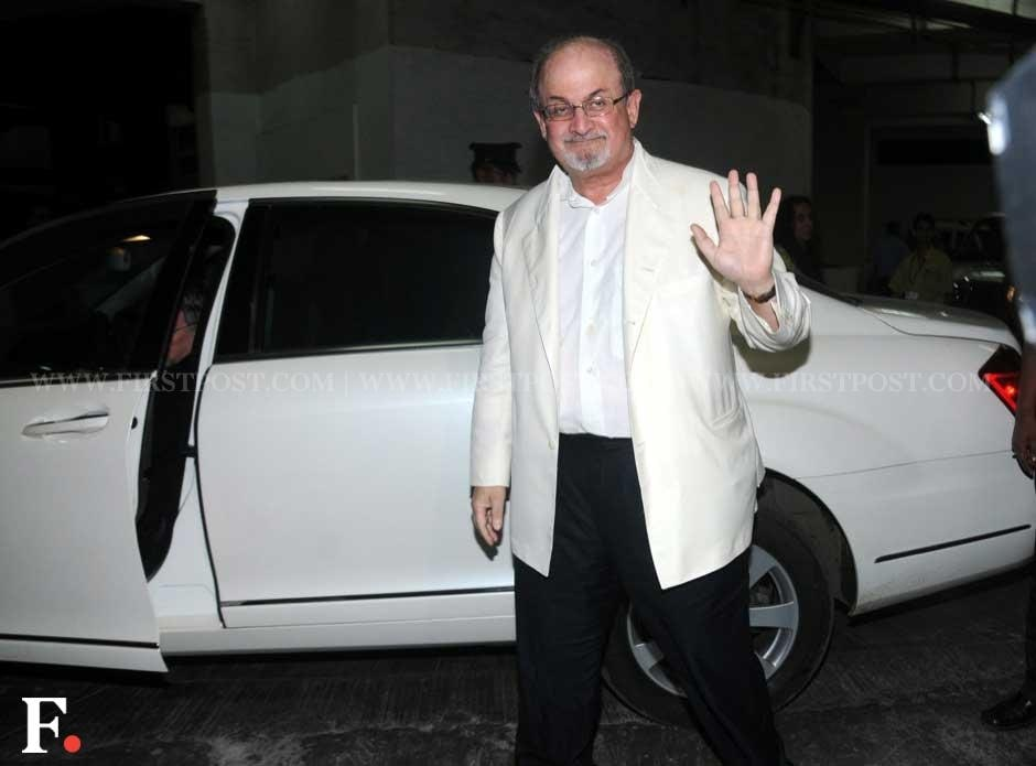 Salman Rushdie at the premiere of Midnight's Children.