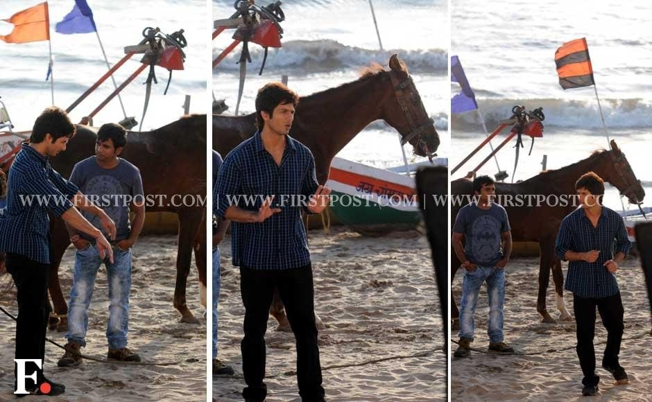 Shahid Kapoor shooting for  Phata Poster Nikla Hero on Versova Beach, Mumbai. Sachin Gokhale/Firstpost