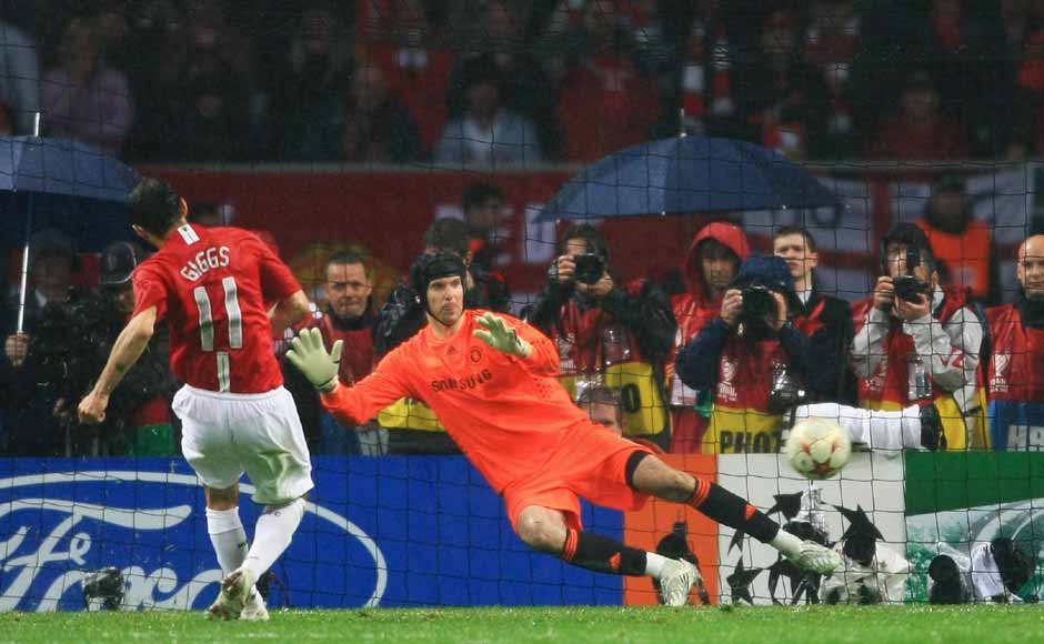 He would go on to win another Champions League medal when United beat Chelsea in 2008. He scored a penalty in the shootout and broke Sir Bobby Charlton's appearances record for United on the same night. Getty Images