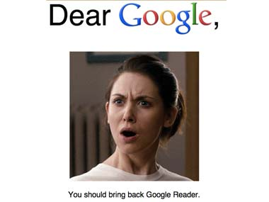 Will Google cave in to online pleas and save Google Reader?