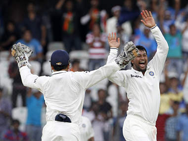 Ojha claimed his 100th Test wicket. Reuters