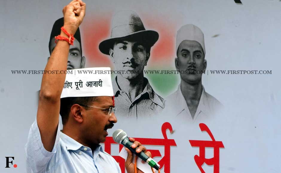 """The aim of my fast is to rally more and more people against the illegal bills,"" Arvind Kejriwal said. Naresh Sharma/ Firstpost"