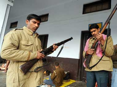 Personnel of Uttar Pradesh Police. AFP