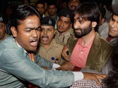 Malik was assaulted by Shiv Sena activists outside the Delhi airport today. PTI