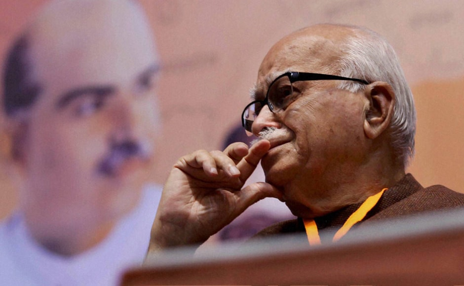 Senior BJP leader LK Advani during the party's National Council meeting in New Delhi on Sunday. PTI