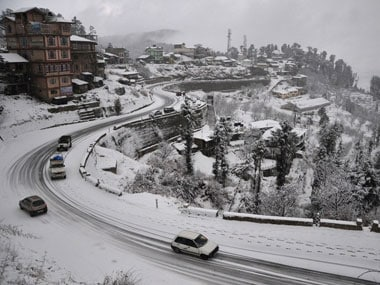 File photo of Shimla covered in snow. AFP