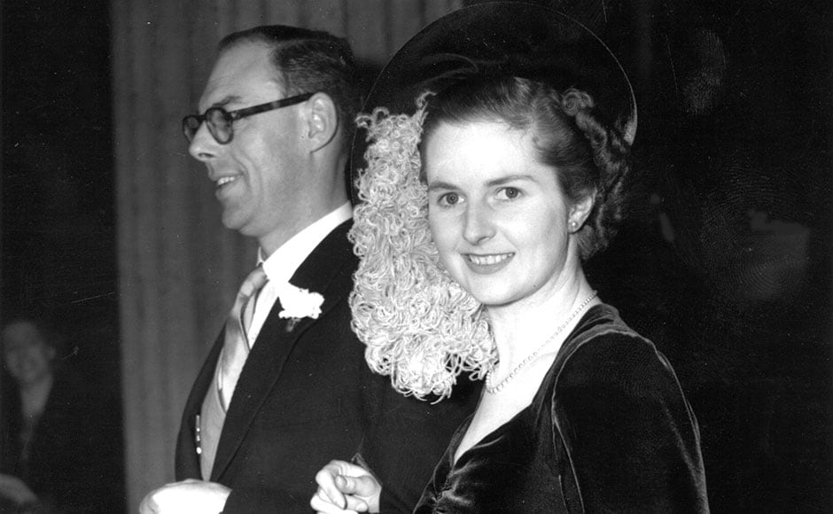 2 8 Margaret Hilda Thatcher Nee Roberts Conservative Politician And Future Prime Minister On Her Wedding
