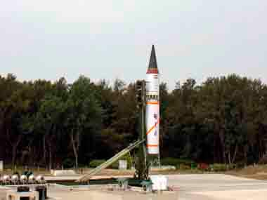India test-fires ballistic missile Agni II from the Abdul Kalam Island in Odisha