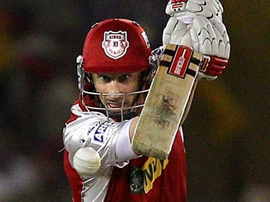 David Hussey in action for KXIP. PTI