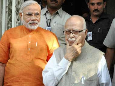 LK Advani is facing a pushback from the BJP cadres for scuttling Modi's career path. PTI