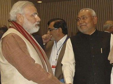 Nitish Kumar and Narendra Modi  AFP