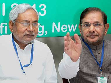 File image of Nitish Kumar and Sharad Yadav. PTI