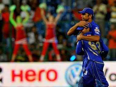 Dravid in action for Rajasthan last year. AFP
